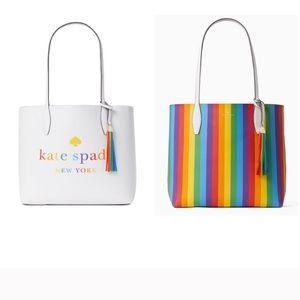 Kate Spade Large Arch Rainbow Reversible T…